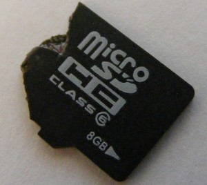Broken MicroSD card